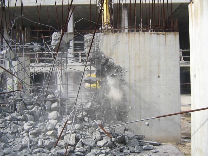 cięcie w betonie